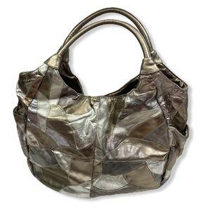 Extra Laege Nine West Metallic patchwork hobo bag